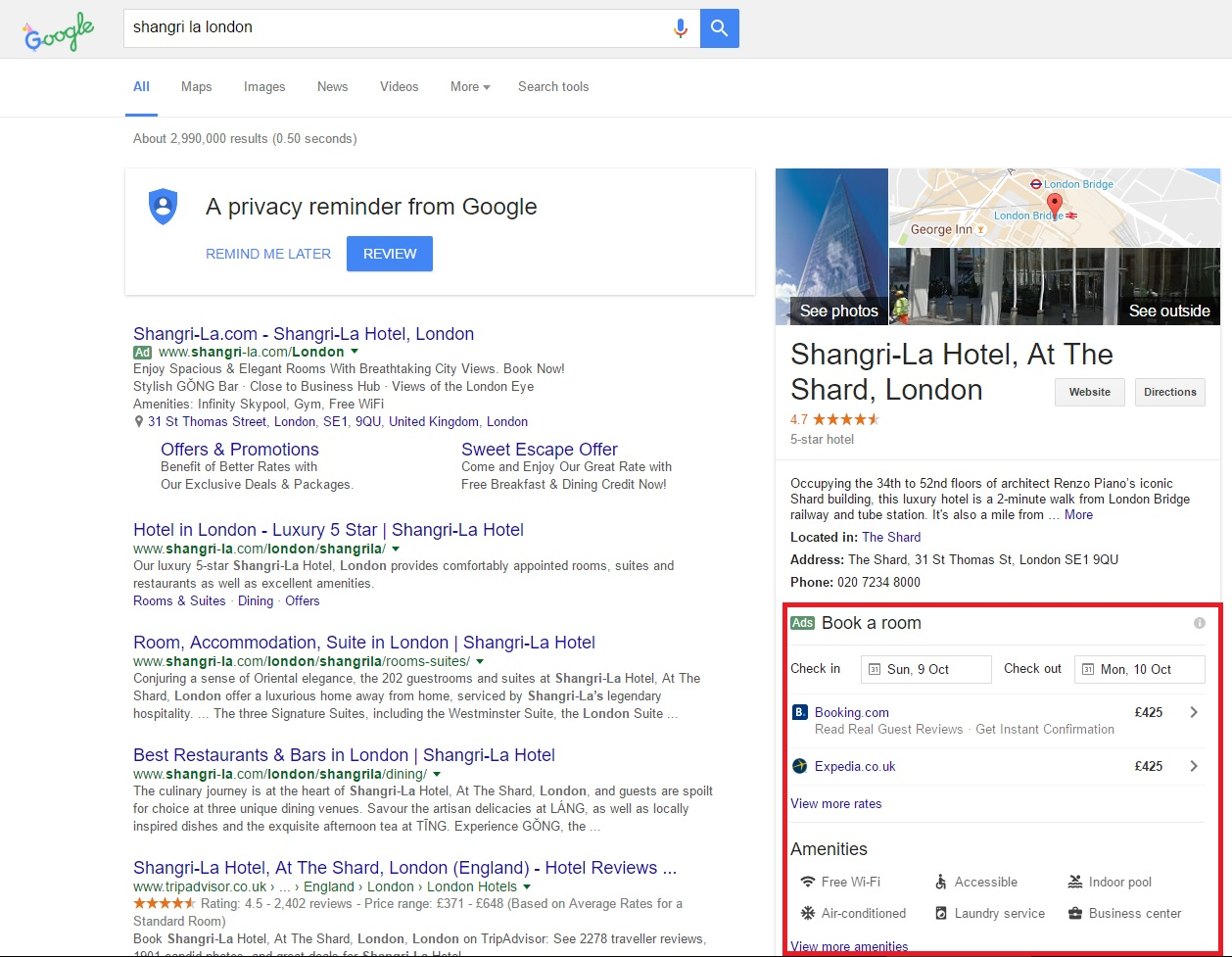 Hotel Booking Google
